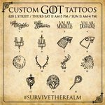 "RT @GameOfThrones: Starting tomorrow at #SDCC, come #SurviveTheRealm at 628 L Street & pledge your allegiance with some ""Westeros ink."" http://t.co/Dna6TfhWwZ"