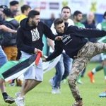 Pro#Palestine ppl attack #Israeli soccer club players in #Austria! These r supporters of #TERROR and #HAMAS! http://t.co/VxgANcSHs2