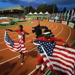RT @daviesphoto: Kendal Williams and Trayvon Bromell grab flags after Williams wins 1st USA medal in 100M @Oregon14WJC #oregon14 http://t.co/wq3rjAKMWL