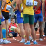 Exhausted decathlon winner Jiri Sykora of Czech Republic rests after 1,500M @Oregon14WJC #oregon14 http://t.co/l5hkjKtV0H