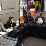 Broadcasting live from #AIDS2014 - @Geropb and @liamfoxpng with our first guests on @RAPacificBeat. #raonair http://t.co/5ehSltESVj