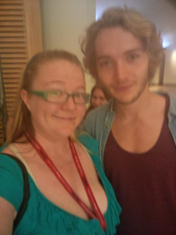 Squeee @toby_regbo @CWReign at my hotel as I head to dinner =) Squee! @ReignedUsIn http://t.co/MVM4jTQNAG