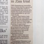 A real good news story! Overturning criminal defamation in @TimesLIVE @MediaMattersZA @FXIsouthafrica http://t.co/tts5evTT6f