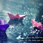RT @NarayaniResort: Hv u made the paper boat ? Share ur rain pics with us. #Ahmedabad #Gandhinagar http://t.co/s3LTQ1obK8
