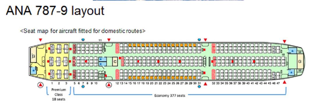 Ana Reveals First 787 9 Layout 395 Seats Civil Aviation