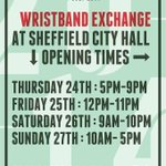 RT @tramlines: #Tramlines2014 Wristband Exchange Information >>> Wristband Exchange is for advance ticket holders only & open today! http://t.co/C3GfxdNd8Y