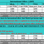 24/7 #Polymers Latest #International Offers of #LDPE. Just mail at globaloffers@polymersbazaar.com + 91 93745 24365 http://t.co/kMzyWrr83p