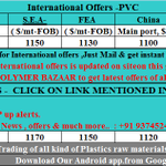 24/7 #Polymers Latest #International Offers of #PVC. Just mail at globaloffers@polymersbazaar.com + 91 93745 24365 http://t.co/0jux36JpjQ