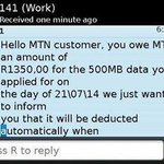 "[Pic] :( @Enhle247: What happened?! ""@_FutureMfana: Fuck MTN bruh . SMH! I was never ready :/"""" http://t.co/vPh9Y5co4u"
