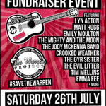 Listen out for @lynacton on @RadioHumberside today from 1pm. Shell be talking about Saturdays #savethewarren gig http://t.co/HYFnQspjc8