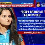 RT @realsanambaloch: Shameful Allegations on #SaniaMirza by #BJP. Indian #Muslim married to a #Pakistani Muslim. Is that a sin?@MirzaSania http://t.co/MjO3RBGjqm