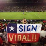 RT @OldTraffordReds: Vidal was at last nights game...... http://t.co/nFRYyNQ1pu