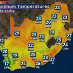 A nice & warm afternoon expected for much of the country. For more visit http://t.co/VdYKmTRQv7 @eNCANews http://t.co/qxutTie0S6