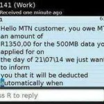 "*Throw away the Sim*""@MihlaliNdlebe: MTN users!!!!! http://t.co/fJfr0II4RU"""