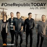 RT @TODAYshow: Tomorrow on TODAY...@onerepublic is live on the plaza for Toyota Concert Series! #OneRepublicTODAY http://t.co/tKQoLhtCPV