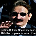 Iftikhar Chaudhry sends Rs20 billion libel notice to Imran Khan | http://t.co/ROQMYWbAwe http://t.co/vbZOTzao8c