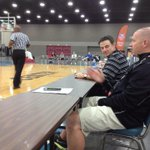 Rick Pitino courtside to watch Antonio Blakeney. http://t.co/aScF1ITwMG