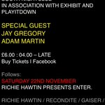 EXHiBiT & Play It Down hosting @AFTERLIFE_MCR party following @richiehawtin at @WHP_Mcr which way to the afterparty? http://t.co/Ay1kOkdA3J