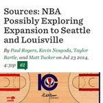 ICYMI: Sources: NBA Possibly Exploring Expansion to Seattle and Louisville http://t.co/smlwFnQXC1 via @sonicsrising http://t.co/apHhwniMla