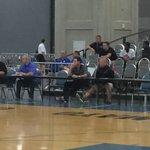 Pitino is front and center watching Antonio Blakeneys game this morning. http://t.co/vvTYk6q21e