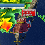 Tornado Warning for Northampton County until 9am #stormmode #vawx http://t.co/LEKTr6f0Nr