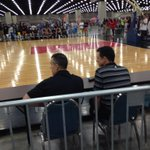 Rick Pitino, Billy Donovan watching Antonio Blakeney in Louisville. Danny Manning, Johnny jones here too http://t.co/mW70mXjEwV