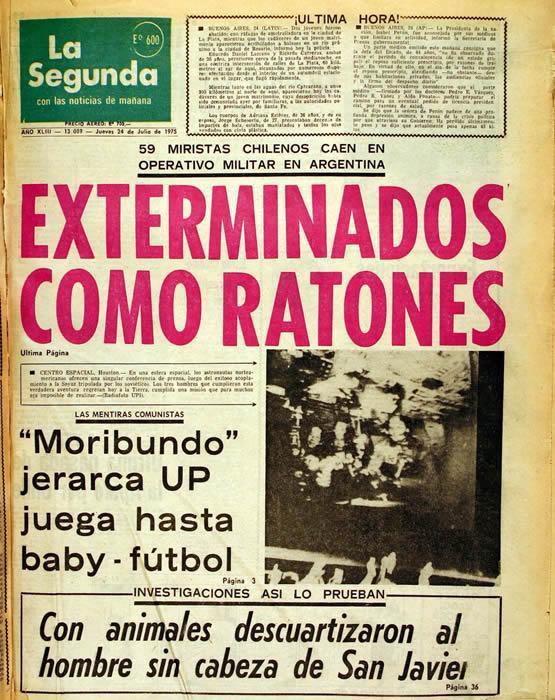 Un día jueves, hace 39 años: El infame titular que hasta hoy llena de vergüenza al periodismo chileno. http://t.co/ZdI4WaDhbY