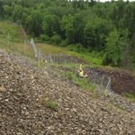 Crews are still hard at work installing moose fencing along sections of the bypass. http://t.co/Aw4slBpNH2