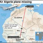 RT @AFP: Map showing the planned route of missing Air Algerie Flight AH 5017 http://t.co/36CS9QgLdr