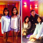 """Kathryn meets singer/song writer Marion Aunor with Rox Santos. #KathrynAlbum coming soon."" © starmusicph http://t.co/rUlXO8K1FV"