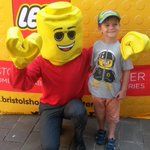 #SummerOfLego Luke with the lego man! @BristolPost http://t.co/VTuIC21prE