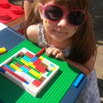@BristolPost #SummerOfLego Lauren with her lego building! http://t.co/uEE7C98Ft9