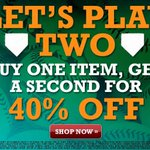 Lets Play 2! Buy one #GreenCollar item, get a second for 40% off at the #Athletics.com Shop. http://t.co/baQE2DOPKG http://t.co/ksUvv4R3C4
