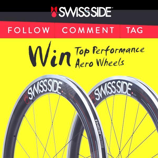 WIN AERO WHEELS! To Enter: Follow @swissside, RETWEET this post WIN HADRON! #cycling http://t.co/kKjCFHv6ZC