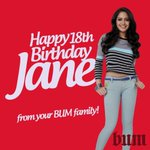 RT @officialbumph: Little Girl No more..Jane is officially a Lady! Happy Birthday from your BUM Family #PBBGoinDalaga http://t.co/4KUwZeMH0V