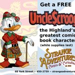 RT @StrangeNB: Hey lassies & laddies! The @NBHighlandGames are on this weekend so were giving away Uncle Scrooge comics! http://t.co/JAnK2qxUrm