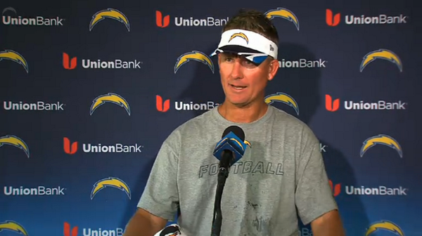 Mike McCoy addressing the media right now. #ChargersCamp