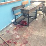 Scene inside Beit Hanoun UNRWA school after shells fell. http://t.co/lcHUkTcMTr