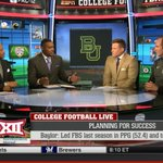RT @BUFootball: #AmericasTopOffense getting some love with @CoachArtBriles on the set of College Football Live. #SicEm http://t.co/S96NUgJLHP