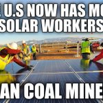 A stunning 21st Century America stat: More Americans work in solar industry than coal mining #auspol http://t.co/fcUVNBX0JT