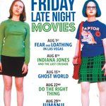 FEAR & LOATHING IN LAS VEGAS+THE LAST CRUSADE+GHOST WORLD+DO THE RIGHT THING+JUMANJI=August Friday Late Nights #YVR http://t.co/spFTzwOlwi