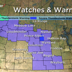 Severe Thunderstorm Watch expanded into the Melfort, Tisdale, Nipawin & Carrot River areas. #skstorm #SkyTracker http://t.co/wlYitfMdNK
