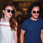 Kit Harington e Rose Leslie chegando para a SDCC 2014. Amanhã rola painel de Game of Thrones no Hall H! http://t.co/6D6QCT3KqF