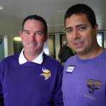 Welcome @Vikings A picture of the Head Coach Mike Zimmer and the Alumni Relations Director @MNSUMankato Ramon Pinero. http://t.co/f3XbNOdvwh