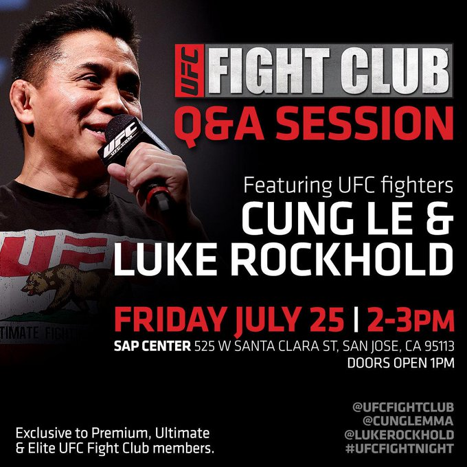 Tomorrow at 2pm @CungLe185 & @LukeRockhold will host our FC Q&A! Have your bar codes ready! http://t.co/UtG1IGhyVH http://t.co/kFRMu5mDFC