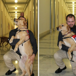 Marine Sgt. Deano Miller & his Warrior Dog Thor served together in Iraq, live together today. http://t.co/Z4oQ6oM5w2 http://t.co/xSw6b7SPnT
