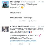 RT @TheVampsband: SMILE WITH ME!!! #MTHottest The Vamps http://t.co/Dj8w91UYr3