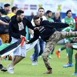 VIDEO: Israeli players attacked with kicks by Palestinians during match in Austria: http://t.co/uwOg9a9pUu Scenes http://t.co/4I0ACKfg9C