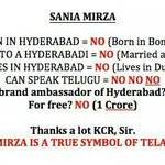 Sania Mirza self-styled gr8 Indian patriot >>> #Telangana Brand Ambassdor. http://t.co/hd8KclfDIS