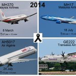 Deepest condolences to the 668 passengers and 37 crews who lost their lives in 2014 #MH370 #MH17 #GE222 #AH5017. http://t.co/mQySyQTrDk